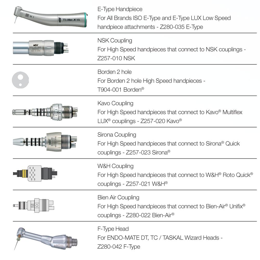 NSK iCare Handpiece Adaptors