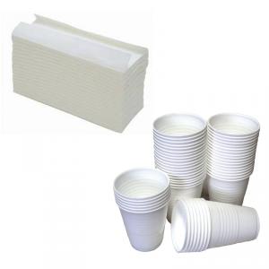 C Fold Towels and 7 oz squat cups